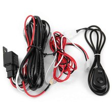 Universal 12V 40A LED Work Fog Light Lamp Bar Automotive Electrical Wiring Harness Kit ON OFF Switch Relay Fuse Easy Mounting