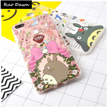 Ruo Dawn High Quality Phone Cases For iphone 6 6S 7 8 Plus X Cartoon Totoro Soft Silicone Transparent Mobile Protection Cover(China)