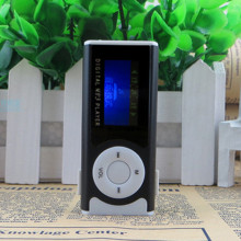 2017 USB Mini Clip LED light LCD Screen MP3 Media Player Support 16GB Micro SD Card MP3 Music Player Black