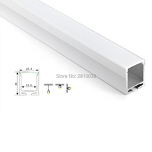 50 X 1M Sets/Lot factory wholesaler aluminium profile led strip and recessed u channel for ceiling or wall light(China)
