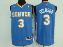 Wholesale Classic #3 Allen Iverson Denver Jersey Top Quality Men Vintage basketball Jersey(China)