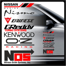 1pcs Nismo NOS Car Side Door Sticker Decal 40x20cm QM0007BK