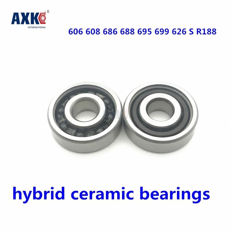 2PC 6000 Full Ceramic Bearing ZrO2 Ball Bearing 10x26x8mm Zirconia Oxide
