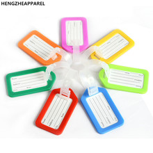 Plastic luggage tag Custom baggage tags pp material luggage accessories simple whole sale fly plane mark label tage