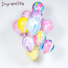JOY-ENLIFE 1 Rainbow Printed Latex Balloon Birthday Party Decorate Baby Shower Supplies Wedding Decor - joy-enlife Fun Store store
