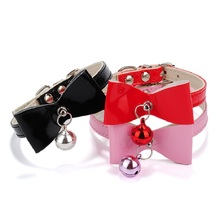 Adjustable Pet Dog & Cat Collar Kitten Velvet Bow Tie Safety Elastic Free Post 4 Colors Bow tie with Bell 2017 Pet Supplier
