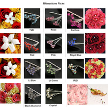Rhinestone Picks Wedding Prom Bride Bouquet Decorations Beautry Corsage Accessories Rhinestone Picks Free DHL