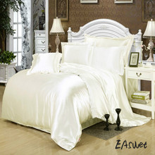 Satin Silk Duvet Cover Twin/Queen/King Bedding Housse de couette adulte Silk Quilt Cover Not including Bed Sheets, pillowcases(China)