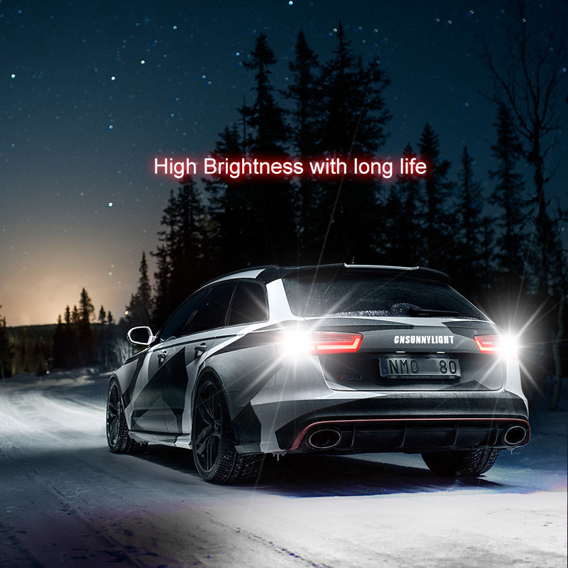 CNSUNNYLIGHT 2pcs 1156 LED BA15S P21W BAU15S PY21W S25 5Osram Chips 6000K White DRL Car Tail Fog Bulbs Brake Light Reverse Lamp (8)