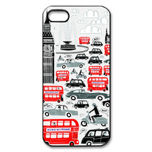 1PCs For Sale London Traffic Background pattern Cheap Cell Phone Case Plastic Hard Cover for iPhone 4s 5s 5c 6 6 plus Cases