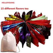 Promotion 15 Different Flavors Tea Chinese Oolong\PuEr\Black\Green\Milk Oolong\Ginseng\flower\Buckwheat\Liver Tea