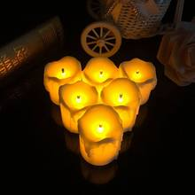 Flameless Candles Ultra Bright Battery Operated LED Electronic Candle Light Marriage Wedding Christmas Home Decoration(China)