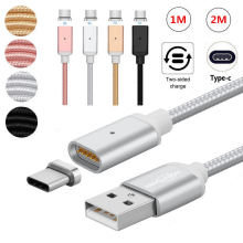 1M/2M USB Type C/Micro USB/IOS Magnetic Cable USB-C Type-C Fast Charging Charge Adapter Magnet Cable For Apple iPad For Samsung(China)