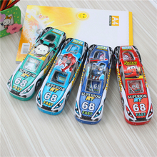 Super Cool car picture pencil cases 2016 New design for Kids and student gift metal pen box(China)