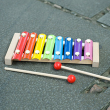 8 Scales Beech Hand Knock Wooden Piano Wooden Xylophone Children Early Childhood Music Teaching Aids Children Educational Toys