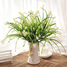 Hot 7-fork Green Imitation Plastic Artificial Grass Leaves Plant for Home Wedding Decoration Arrangement 03001