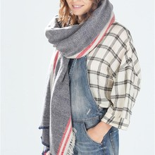 1PC Fashion Women Lady Blanket Oversized Scarf Wrap Warm Shawl Plaid Checked Pashmina Stole Winter(China)