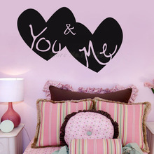DCTOP You And Me Heart Wall Stickers Home Decor Vinyl Adhesive Art DIY Wall Decals Bedroom Design