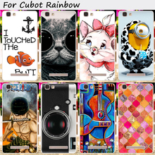 Soft TPU Mobile Phone Cases Cover For Cubot Rainbow Cases Cute Minions Cat With Black Glasses Cell Phone Skin Cover Phone Shell