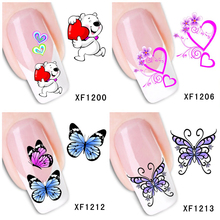 30 Styles! Fashion Nails Art Manicure Decals Butterfly Design Water Transfer Stickers For Nails Tips Beauty#BXF1199~BXF1226