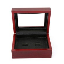 Top Quality Pure Handmade Solid Wooden Boxes With 2,3,4,5,6 Holes Best Suit For Championship Rings Fans Collection Gift Box B005