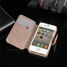 For Iphone 4s Case iphone 4 Case Cover For i phone 4 Ipone 4 4s Luxury Wallet Flip Back Hard Protective Cover Coque Fundas(China)