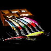 WALK FISH 1PCS 16.5cm 27.5g Big Minnow Artificial Plastic Deep Diver Hard Lures Fishing Lure Crankbait with 2 Treble Hooks
