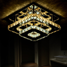 Modern Double layer Crystal LED Ceiling lights Fixture Indoor Lamp lamparas de techo Surface Mounting Ceiling Lamp For Bedroom