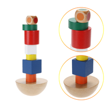 Free Shipping Balance Stacking Game Building Blocks Wooden Toys Children's Birthday Present Intelligence Creative Plaything