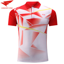 men table tennis shirt table tennis clothes quick drying short sleeve badminton training shirts pink red green colors available
