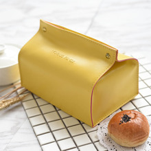 Multifunctional PU Leather Tissue Box Storage Bag Cosmetic Bag Nordic Modern Pumping Cart Car Home Dining Table Tissue Box(China)