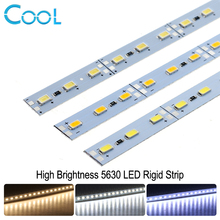 LED Bar Light 5630 DC12V 36LEDs/50cm High Brightness LED Hard Rigid Strip For Kitchen Under Cabinet Showcase 10pcs/lot(China)