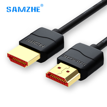 SAMZHE hdmi cable soft Slim hdmi to hdmi 2.0 4K UHD 3D 0.5M 1M 1.5M 2M 3M for PS3 PS4 xbox Projector HD LCD Apple TV Computer(China)