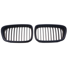 1 Pair Front Matte Black Wide Kidney Auto Car Grille Grill For BMW 5 Series E39 M5 1998 1999 2001 2002 2003 Car Styling