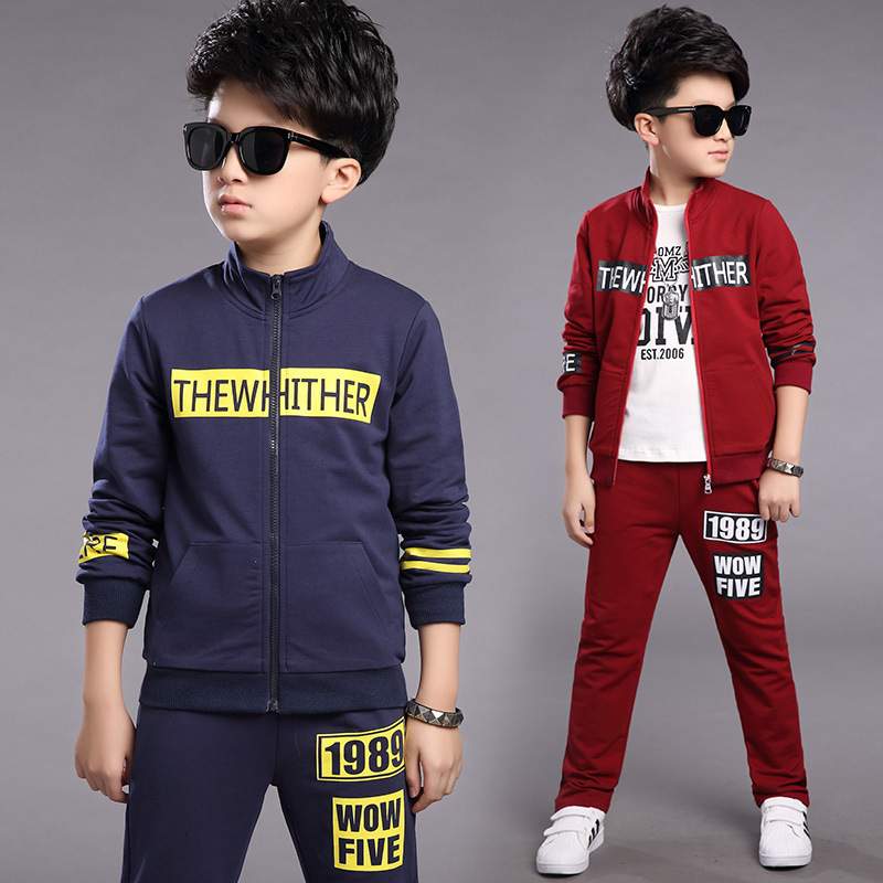 Children Dress Spring Clothes Suit New Pattern Child Spring And Autumn Boy Clothes 2 Pieces Kids Clothing Sets<br>