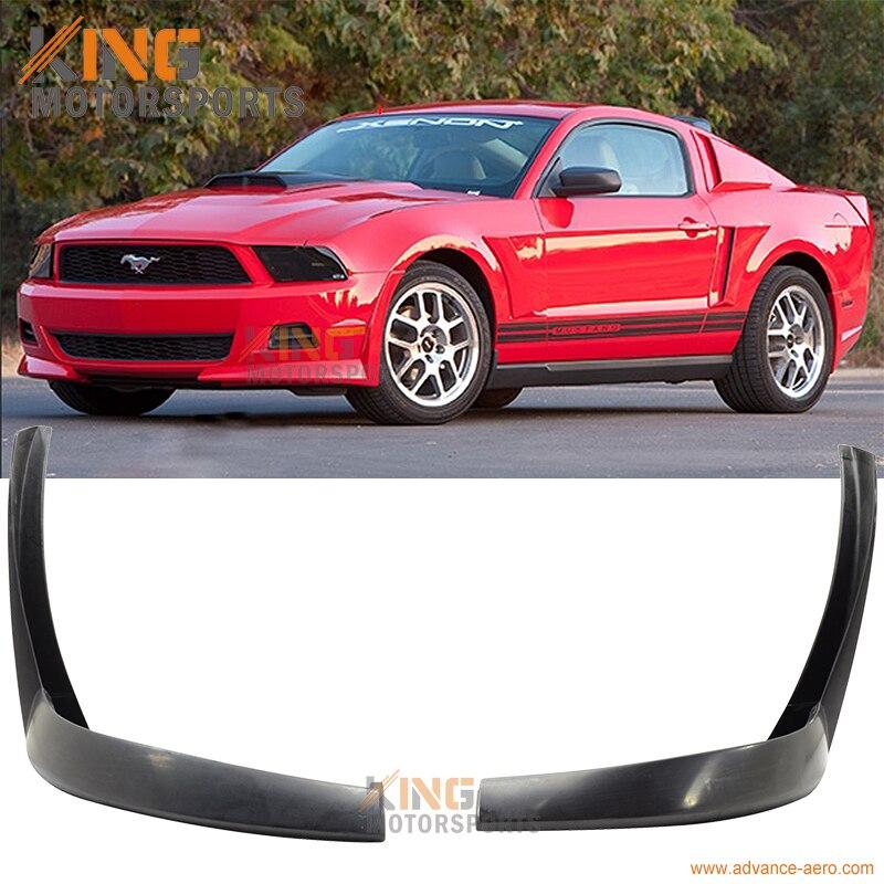 2011 Front Bumper Lip Fits 2010-2012 Ford Mustang GT V8 B2 Style PU Black Front Lip Spoiler Splitter by IKON MOTORSPORTS