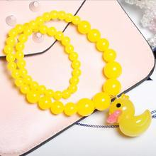 Jewelry children pearl necklace cute cartoon duckling pendant girls clothing accessories manufacturers wholesale and retail