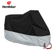 HEROBIKER Motorcycle Cover All Season Waterproof Dustproof UV Protective Outdoor Indoor Lock-holes Design Motorbike Rain Cover(China)