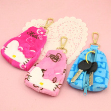 CUTE hello Kitty Cat Zipper Key Plush Storage Bags Headset Earphone Bag Portable Kawaii Cartoon Children Coin Purse Kid Gift