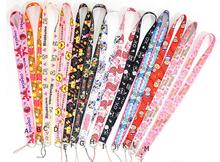 Hot Sale! 10 pcs Popular Cartoon  Key Chains Mobile Cell Phone Lanyard Neck Straps   Favors SZ-2