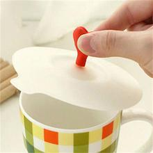Cartoon Anti-dust Silicone Glass Cup Cover Coffee Mug Suction Seal Lid Cap 1Pcs