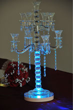 Made In China Wholesale Lithium battery operated 8Inch LED Candelabra Centerpiece ,Vase Light Base For Wedding Souvenirs