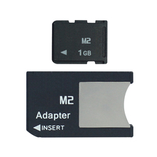 M2 with Adapter Memory Stick Micro into Memory Stick Pro Duo 512MB 1GB 2GB 4GB 8GB MS PRO DUO(China)
