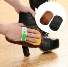2 Pcs Hot Sale Fashion Soft Wool Plush Suede Shoes Cleaner Shoe Care Brush Shoe Gloves Wipe Shoes Mitt