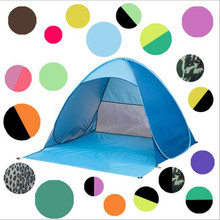 Multi Colors Fast Automatic Opening Beach tent SunShelter light weight POP UP open UV Protective tent Picnic Hiking fishing tent