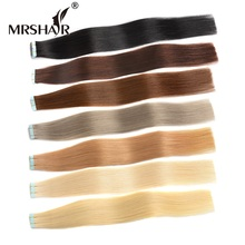 "MRSHAIR Remy Tape In Hair Extensions 20pcs Cuticle Remy Human Hair On Tape Seamless Hair Extensions European 16"" 18"" 20"" 22"" 24"""