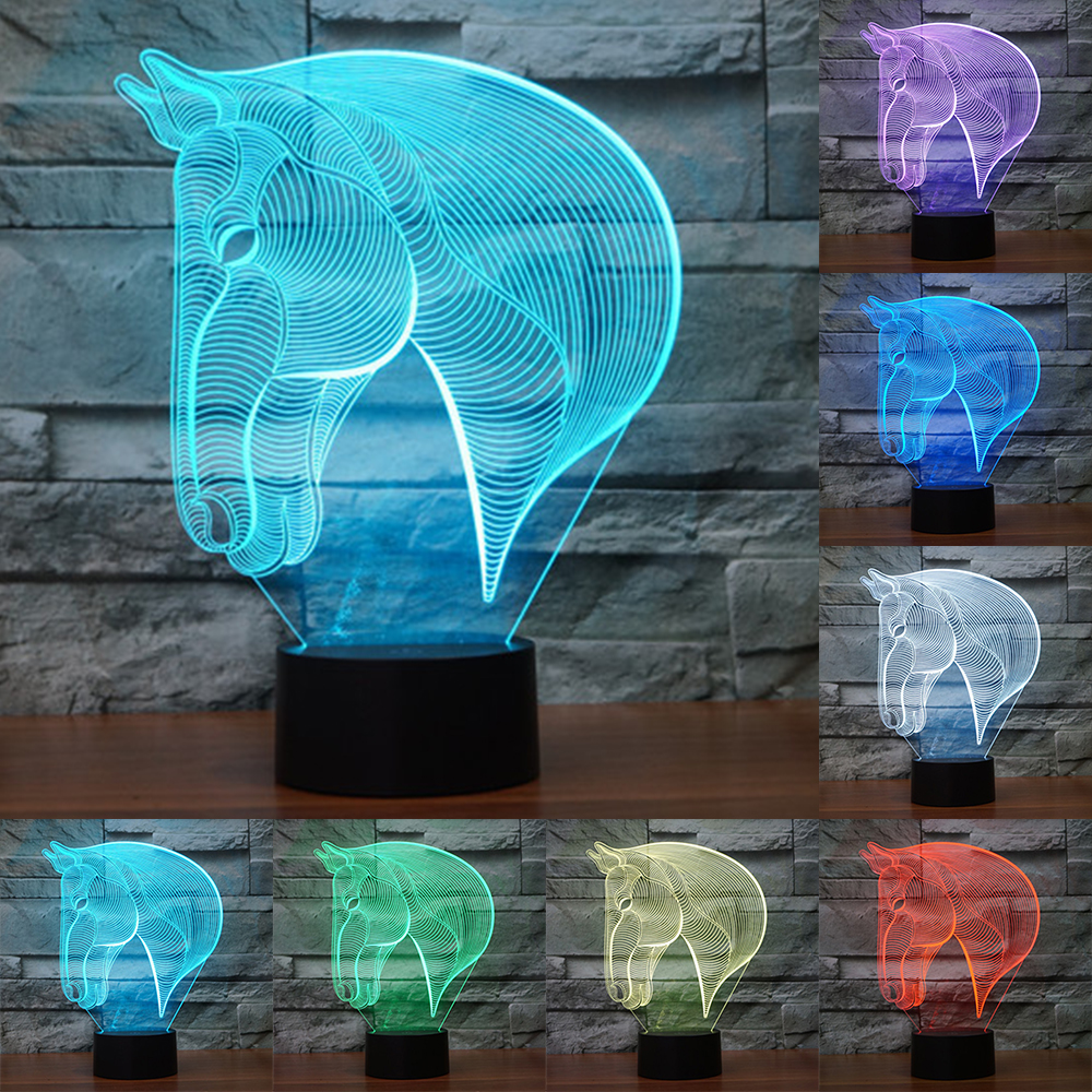 Creative-7Colors-Changing-Acrylic-Horse-Led-Nightlights-3D-LED-Desk-Table-Lamp-USB-Bedside-Lamps-Horse