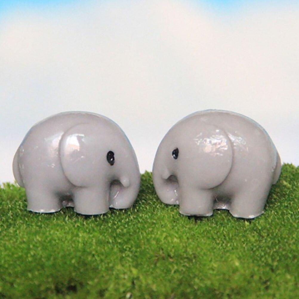 1 PCS Artificial elephant fairy garden miniatures gnomes moss terrariums resin crafts figurines for home garden decoration