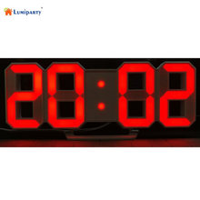 LumiParty Modern Digital LED Wall Clock Table Desk Night Electric Clock Watch Multi-Functional LED Clock 24/12 Hour Display-30(China)
