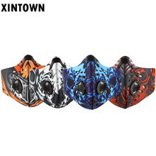 XINTOWN Pm2.5 breathable Women Men Sports Cycling Carbon Filters Mask Dust Smog Protective Half Face Neoprene Mask
